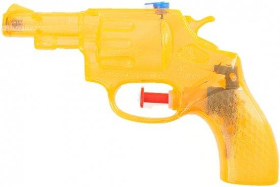 Oranje transparant waterpistool 13 cm