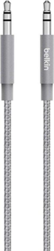 Belkin MIXIT Metallic 3.5 mm AUX-kabel - Grijs