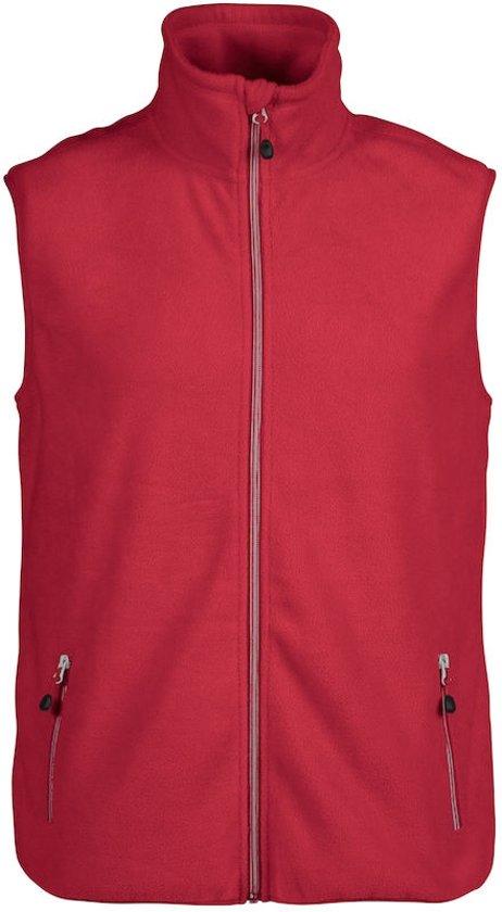 Printer Sideflip Fleece Vest Red L