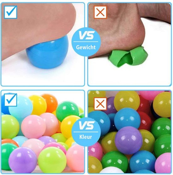 Eyzo 150 Kleurrijke Ballenbak Ballen - Ballentent Speelgoed - 6 cm
