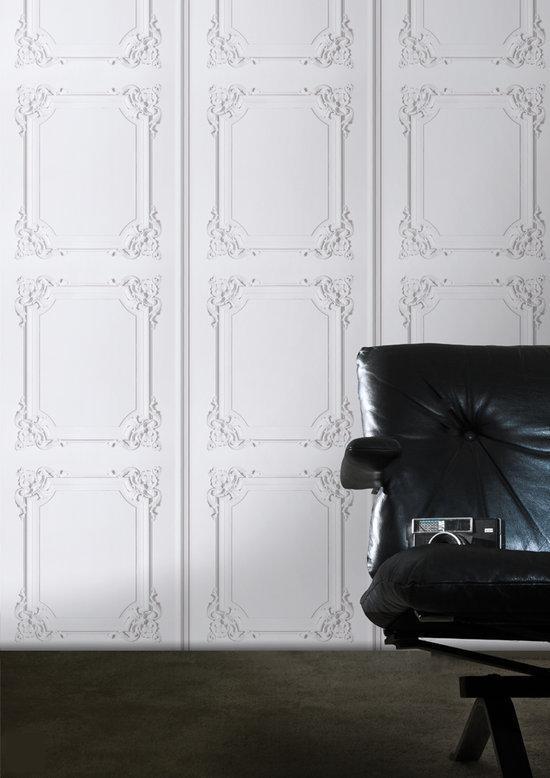 Dutch wallcoverings vliesbehang lambrisering - Behang effect van materie ...