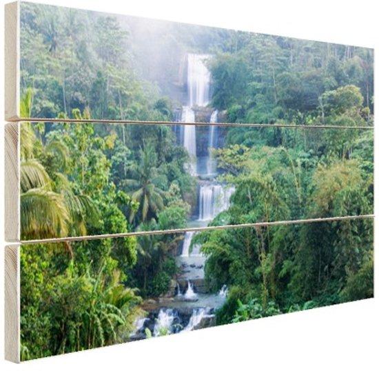 FotoCadeau.nl - Nangga waterval Indonesie Hout 80x60 cm - Foto print op Hout (Wanddecoratie)