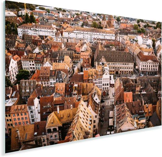 Indrukwekkende daken in de Franse stad Straatsburg Plexiglas 180x120 cm - Foto print op Glas (Plexiglas wanddecoratie) XXL / Groot formaat!