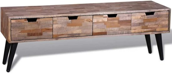 Tv-meubel met vier lades gerecycled teak