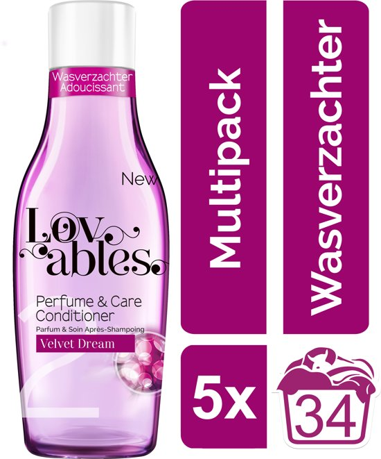 Lovables Conditioner - Velvet Dream - Kwartaalbox - 170 wasbeurten - wasverzachter