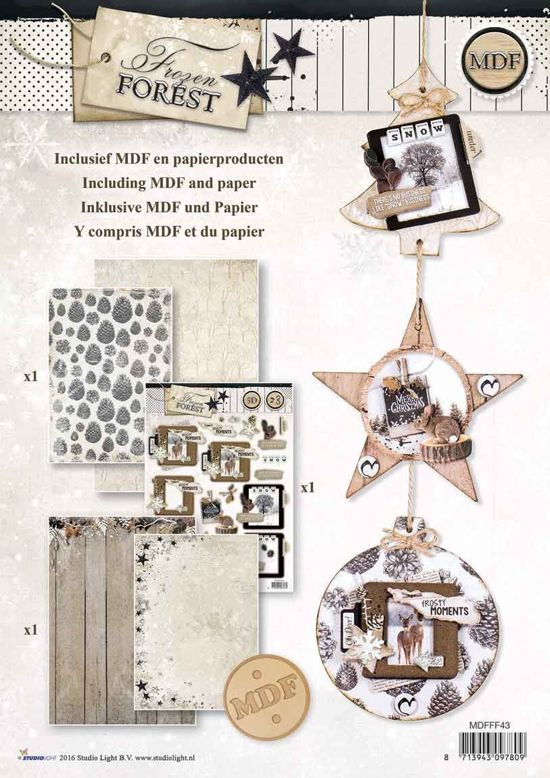 DIY Kerst MDF Hanger Pakket - Frozen Forest - Maak je eigen Houten Kerst Hanger