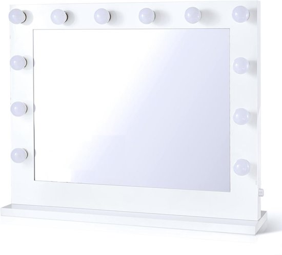 Visagie Spiegel Met Lampen.Hollywood Spiegel Visagie Spiegel Visagiespiegel Make Up Spiegel Spiegel Met Verlichting Wit