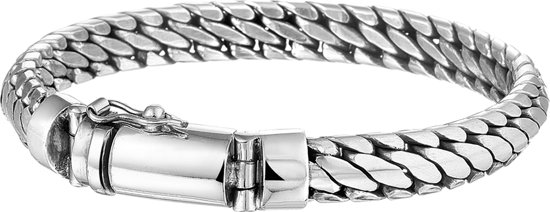 The Jewelry Collection For Men Armband 8 mm 21 cm - Zilver Geoxideerd