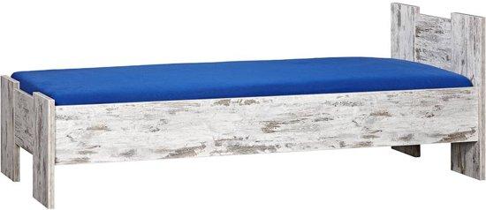 BEUK Bedframe 140X210 cm - Incl. Middenbalk - Steigerhout Look - Wouw