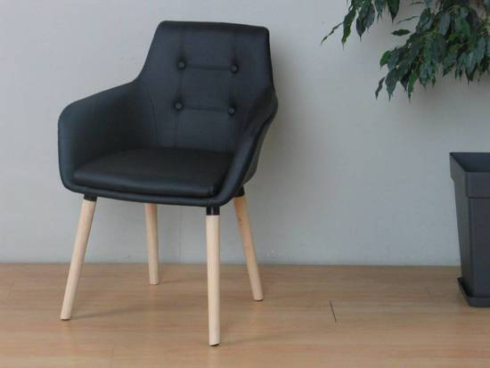 Bol.com eetkamerstoelen zwart met armleuning john set van 2 stoelen
