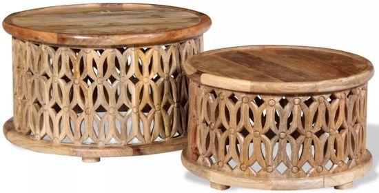 Salon Tafel Hout : Bol arabische tafels bijzettafel salontafel tafel rond set