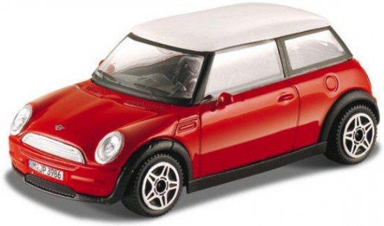 Bolcom Modelauto Mini Cooper Rood 143 Auto Schaalmodel