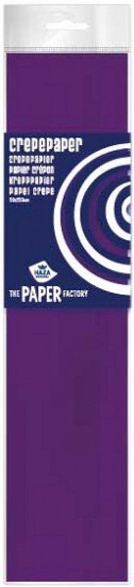 Crepe papier plat paars 250 cm