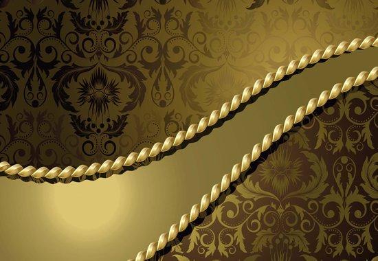 Fotobehang Golden Ornamental Pattern | L - 152.5cm x 104cm | 130g/m2 Vlies