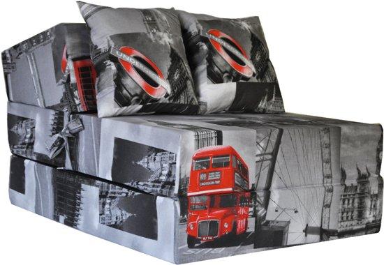 Luxe logeermatras - Londen - camping matras - reismatras - opvouwbaar matras - 200 x 70 x 15 - met kussens