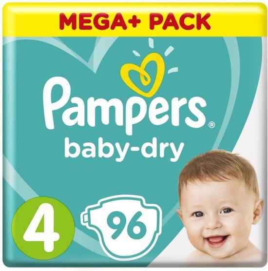 Pampers Baby-Dry - Maat 4 (Maxi) 9-14 kg - 96 Stuks - Luiers