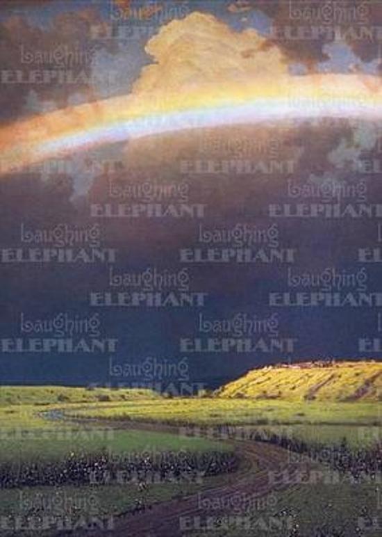 Afbeelding van het spel Rainbow Over Green Field - Sympathy Greeting Card
