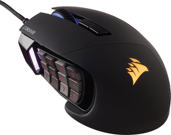Corsair Gaming - Scimitar Pro RGB, Black, Optical, 16000DPI