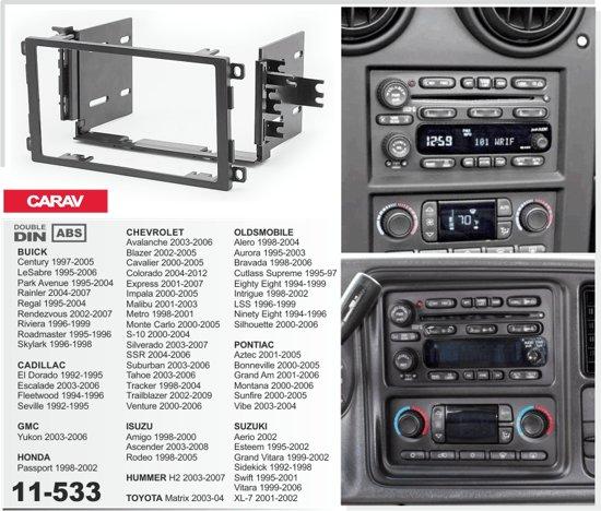 2-DIN HUMMER H2 2003-2007  inbouwpaneel Audiovolt 11-533