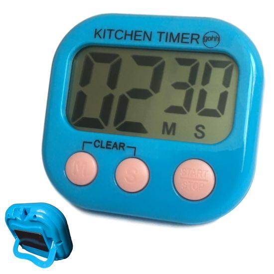 Gouda Select Kitchen Timer - Digitale Kookwekker Blauw - Groot Display - Magneet