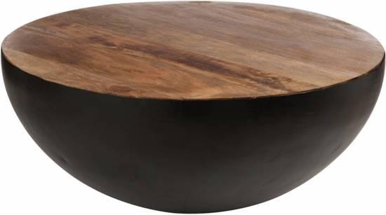 Salontafel zwart staal hout opmerkelijk salontafel zwart metaal