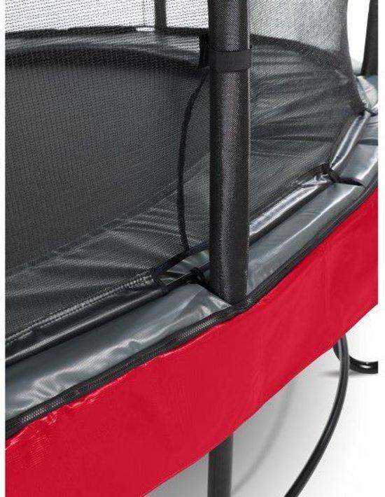 EXIT Elegant Premium trampoline 244x427cm met veiligheidsnet Economy - rood