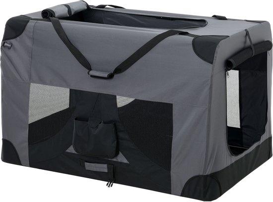 Dieren transportbox - reismand - grijs - XXXXL