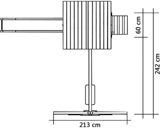 vidaXL Speelhuis met glijbaan, ladders en schommel 242x237x218 cm hout