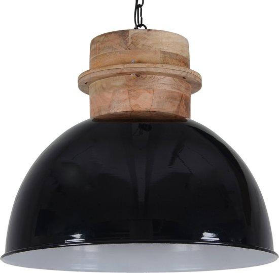 Hanglamp legno 50 cm glans zwart for Collectione lampen