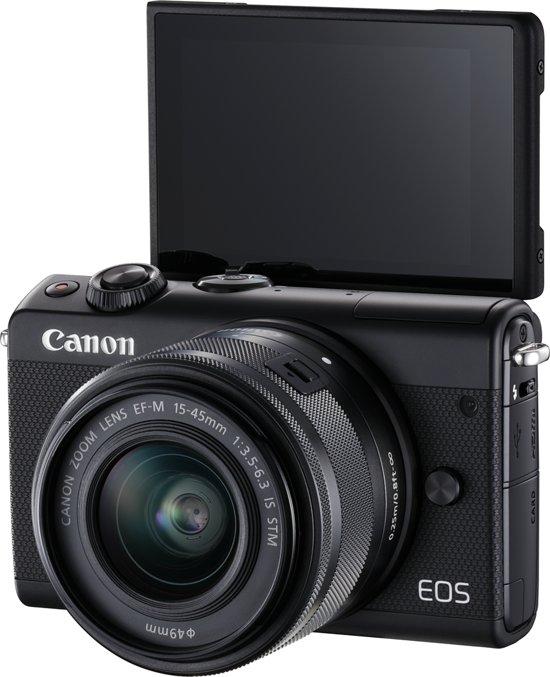 Canon EOS M100 + 15-45mm + 50GB Irista - Zwart