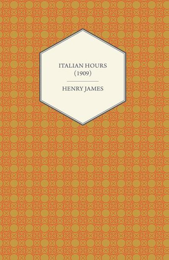 Boek cover Italian Hours (1909) van Henry James (Onbekend)