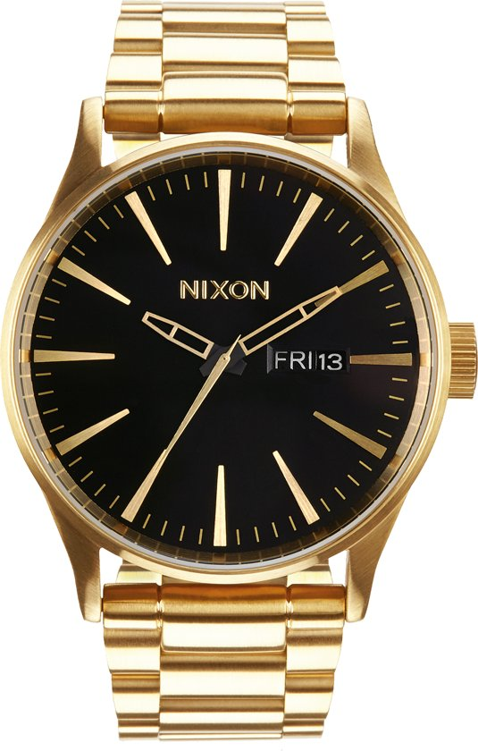 Nixon A356510 Sentry SS all gold / black - Horloge - 42mm - Goud