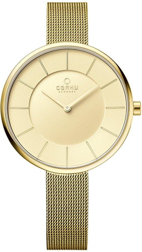 Obaku V185LX GGMG horloge dames - goud - edelstaal doubl�