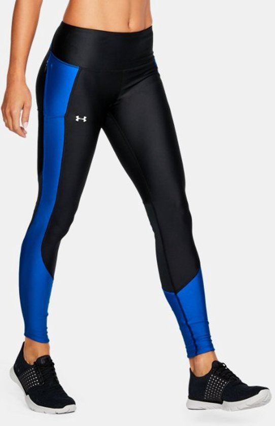 Under Armour - Coldgear Reactor Run Tight - Hardloopbroek - Dames - Blauw - maat XS