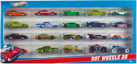 Hot Wheels Cadeauset met 20 Auto's
