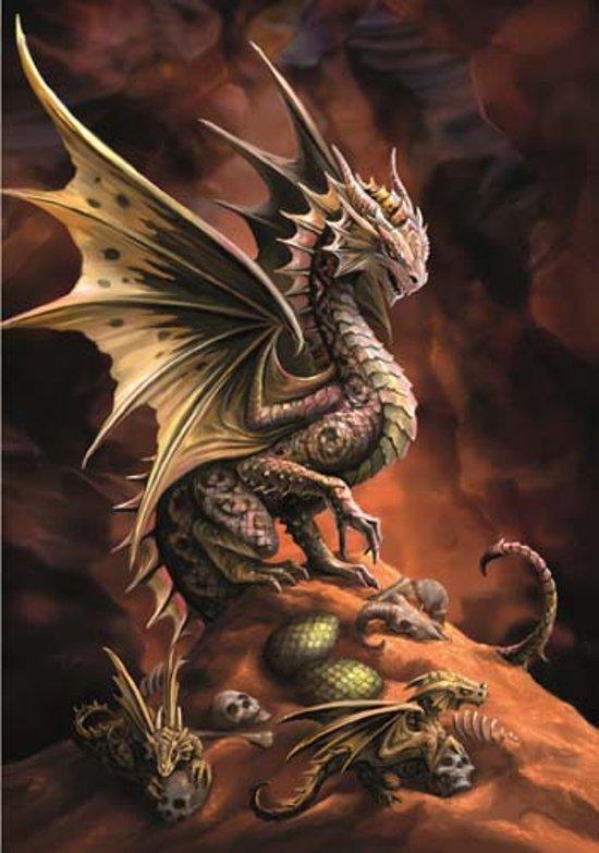 Anne Stokes Wenskaart Desert Dragon