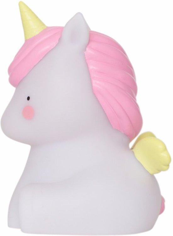A Little Lovely Company - Unicorn - Nachtlampje - Wit / Roze - Kinder lamp - Kinderkamer lamp