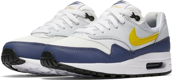 Nike Air Max 1 Sneakers Kinderen WhiteTour Yellow Blue Recall