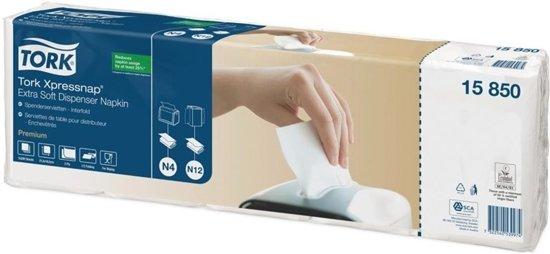 Tork Xpressnap® dispenserservet 216x165cm 2-laags 1/2-vouw wit 5x200x8