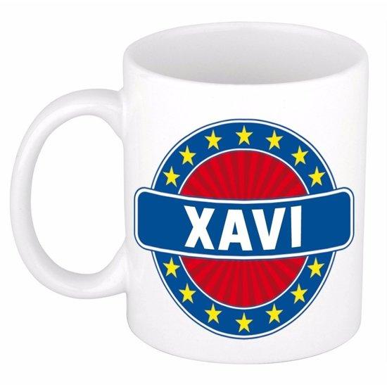 Xavi naam koffie mok / beker 300 ml  - namen mokken
