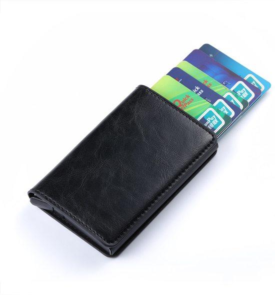 e878ab9b9fc bol.com   luxe kaarthouder / pasjeshouder zwart voor 10 kaarten en ...