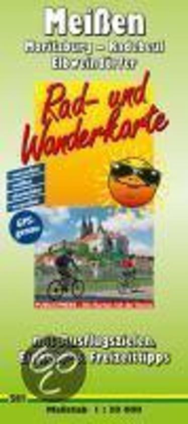 Meißen, Moritzburg - Radebeul - Elbweindörfer 1 : 30 000 Rad- und Wanderkarte
