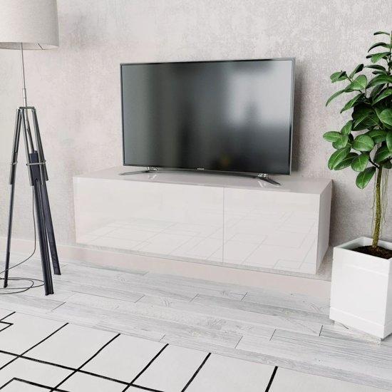 Tv Kast Wit Glans.Bol Com Tv Kast 120x40x34 Cm Spaanplaat Hoogglans Wit