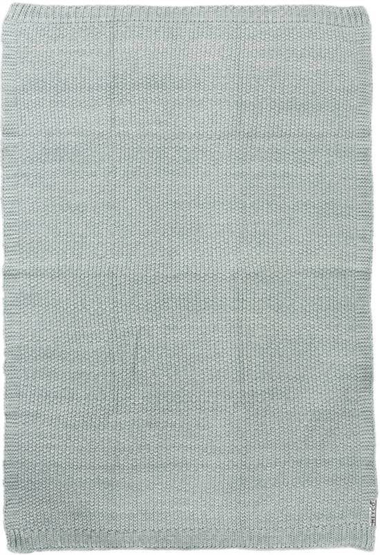 Meyco Silverline Relief Mixed wiegdeken - 75 x 100 cm - stone green