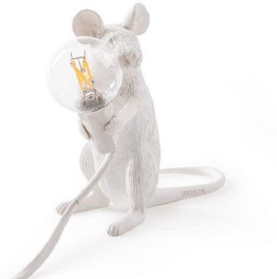Seletti Mouse zittend wit