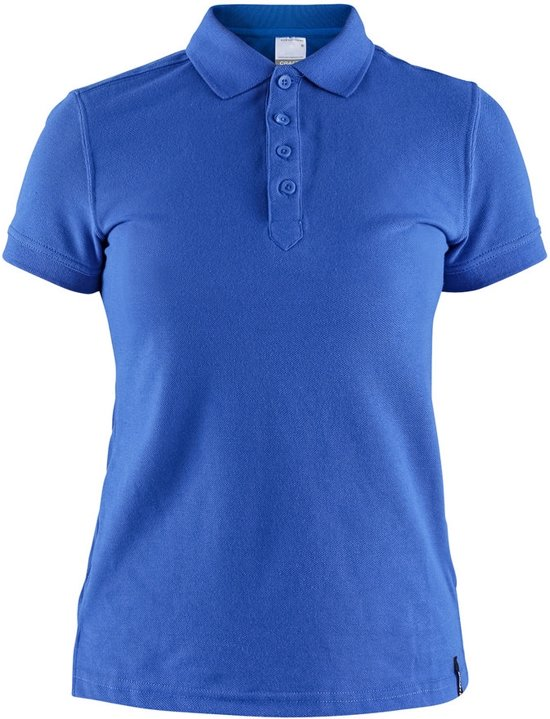 Craft Casual Polo Pique Dames Blauw maat L