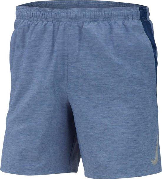 Nike Chllgr Short 7In Bf Heren Sportbroek - Blue Void/Blue Void/Htr/(Reflective Silv) - Maat L