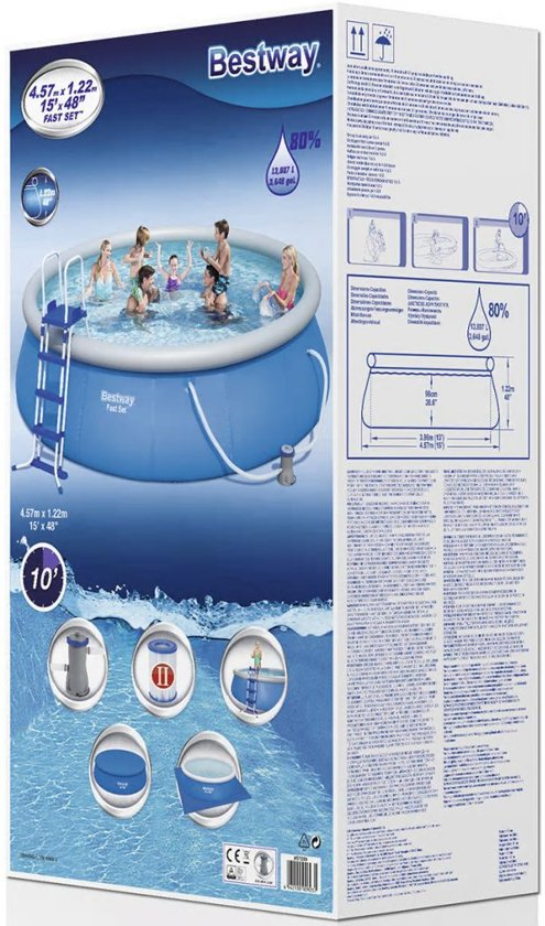 Bestway Fast Set Pool Zwembad - 457 x 122 cm