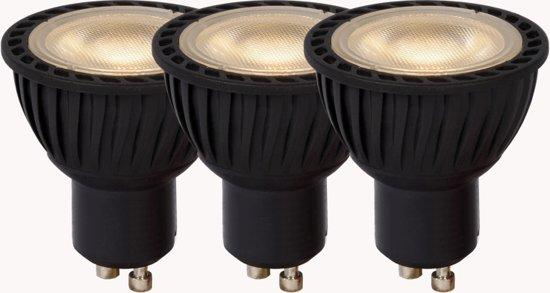 Lucide LED BULB - Led lamp - Ø 5 cm - LED Dimb. - GU10 - 3x4,5W 3000K - Zwart - Set van 3