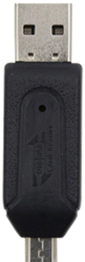 Phoco Kaartlezer (micro) SD met (micro) USB zwart